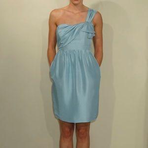 Jenny Yoo Ciel Blue Silk shantung
